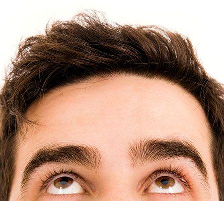 mans head after botox