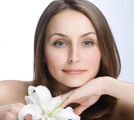 womans face after a PRP Facial Treatment